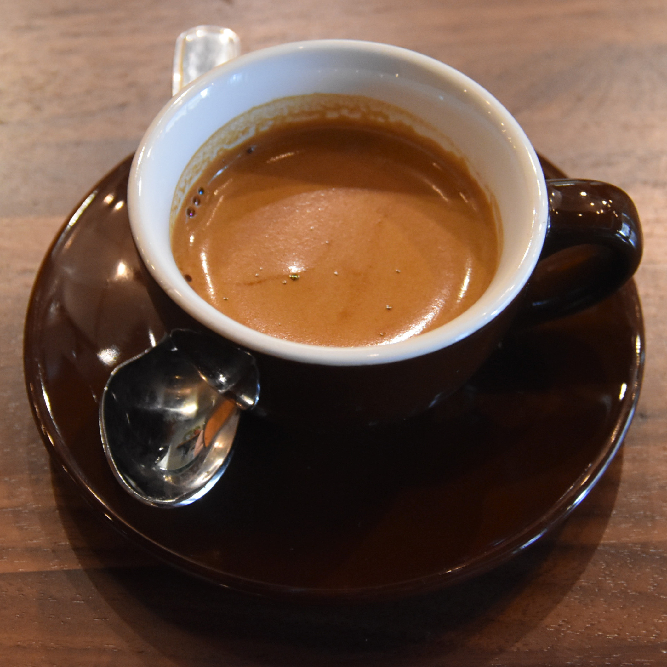 A gorgeous espresso, made with the Big Shoulders house-blend, at the Gold Coast branch.