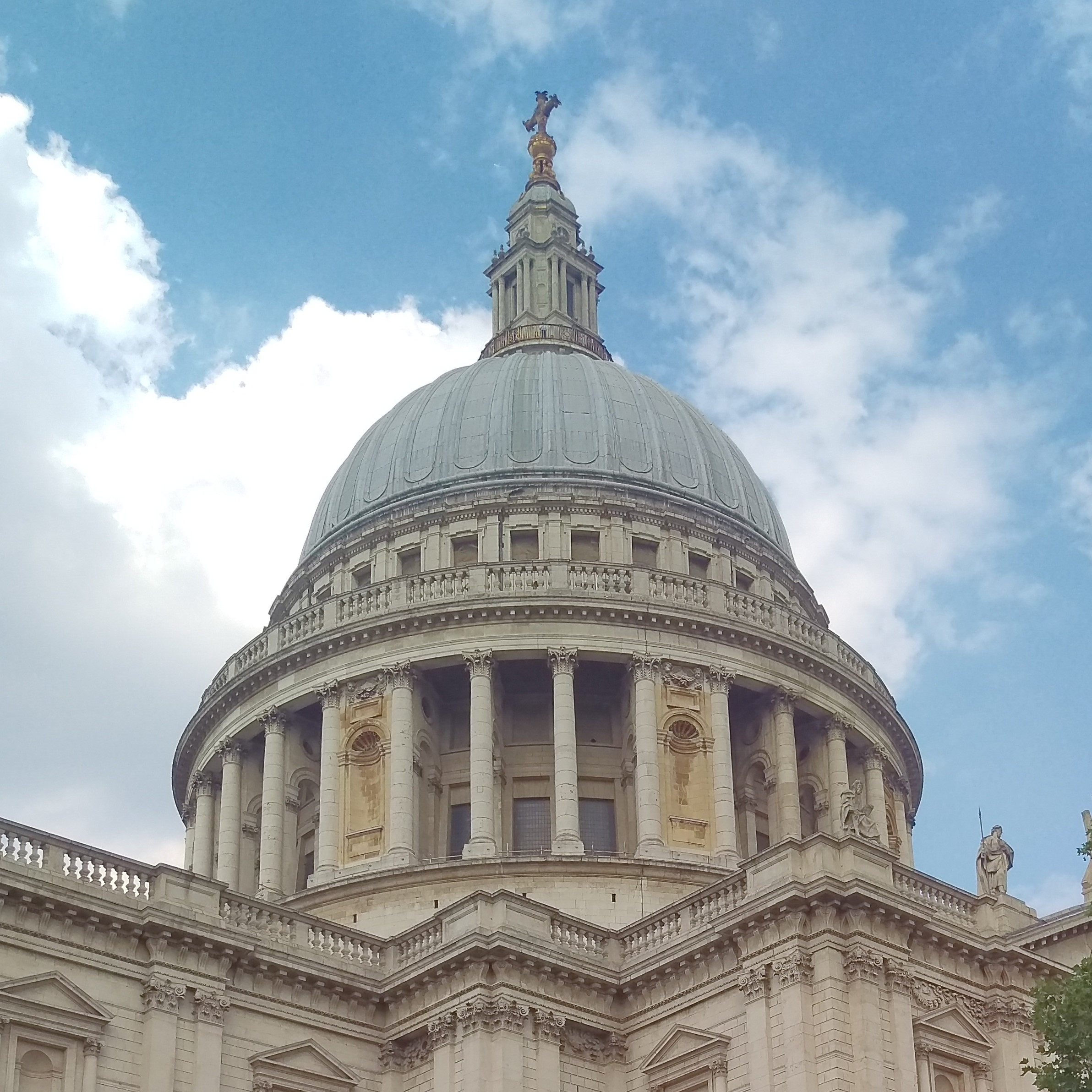 The dome of Saint Paul's Cathedral, London, as seen from the south west.