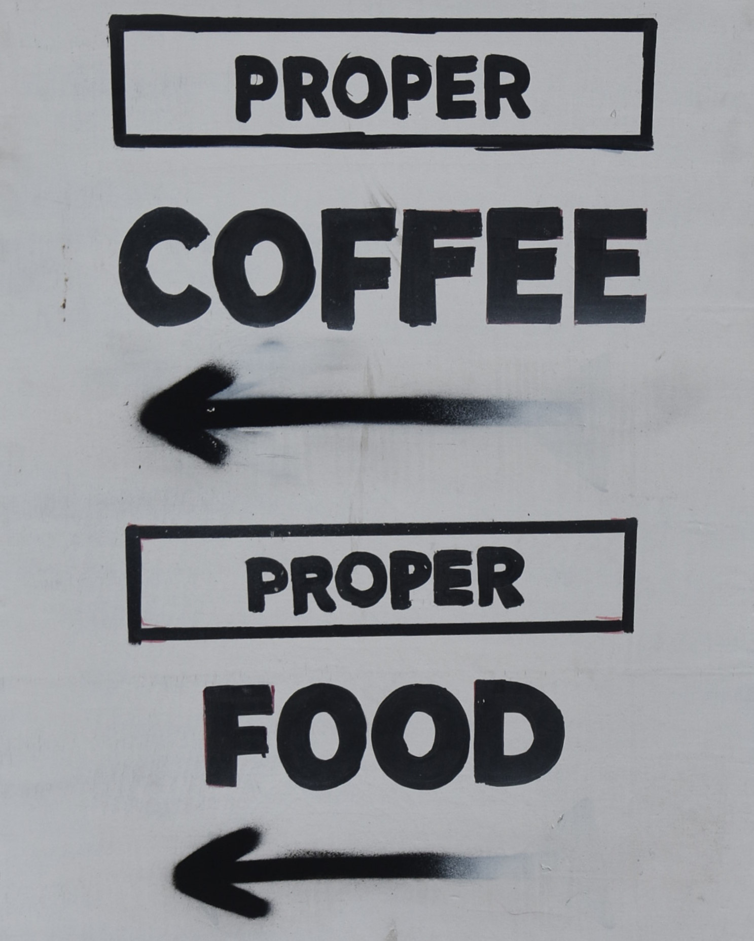 The A-board outside the Birmingham branch of Wayland's Yard promised proper coffee and proper food.