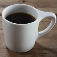 A mug of the Providencia Black Honey single-origin from El Salvador, served at Cartel Coffee Lab in downtown Tucson.