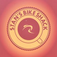 The logo from the sign outside of Stan's Bike Shed in West Sussex.