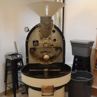 The Probat roaster at the heart of the new roastery at Fourtillfour in Socttsdale, Arizona.