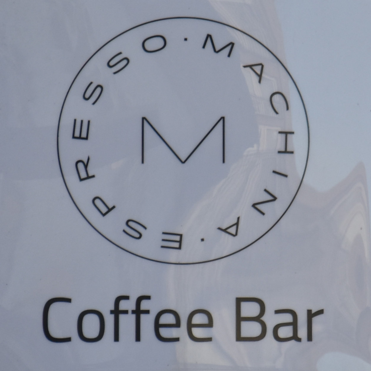 Machina Espresso Coffee Bar: detail from the sign outside the Nicolson Street branch