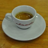 A single espresso made with the house-blend at BLUEKING Coffee on Nanyang Road, Shanghai.