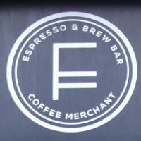 The logo from the door at Fortitude in Edinburgh: Espresso & Brew Bar, plus Coffee Merchant.