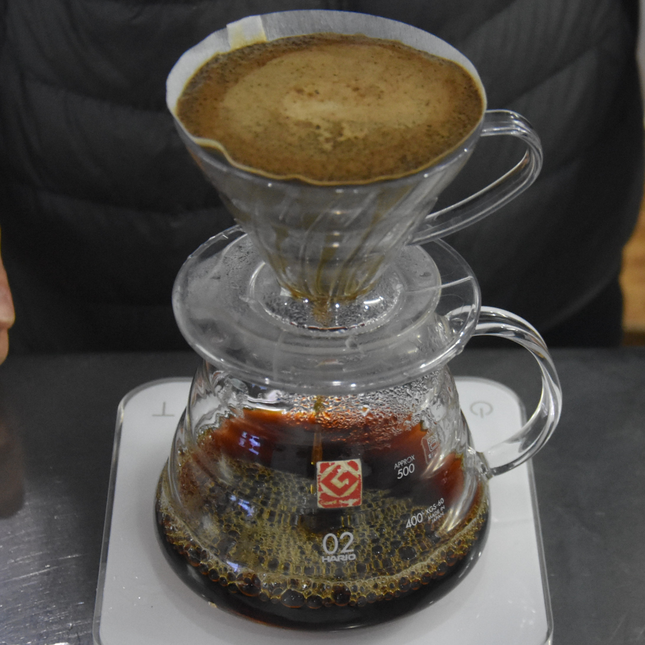 My V60, of a washed Yunnan coffee, grown in China, and roasted and served by Manner Coffee, Shanghai.