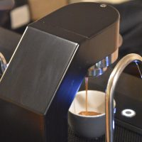 An espresso shot extracting on the Mavam modular espresso system at Brighton's Coffee @33.