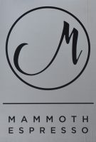 The Mammoth Espresso logo from the sign hanging outside the shop in New Orleans.