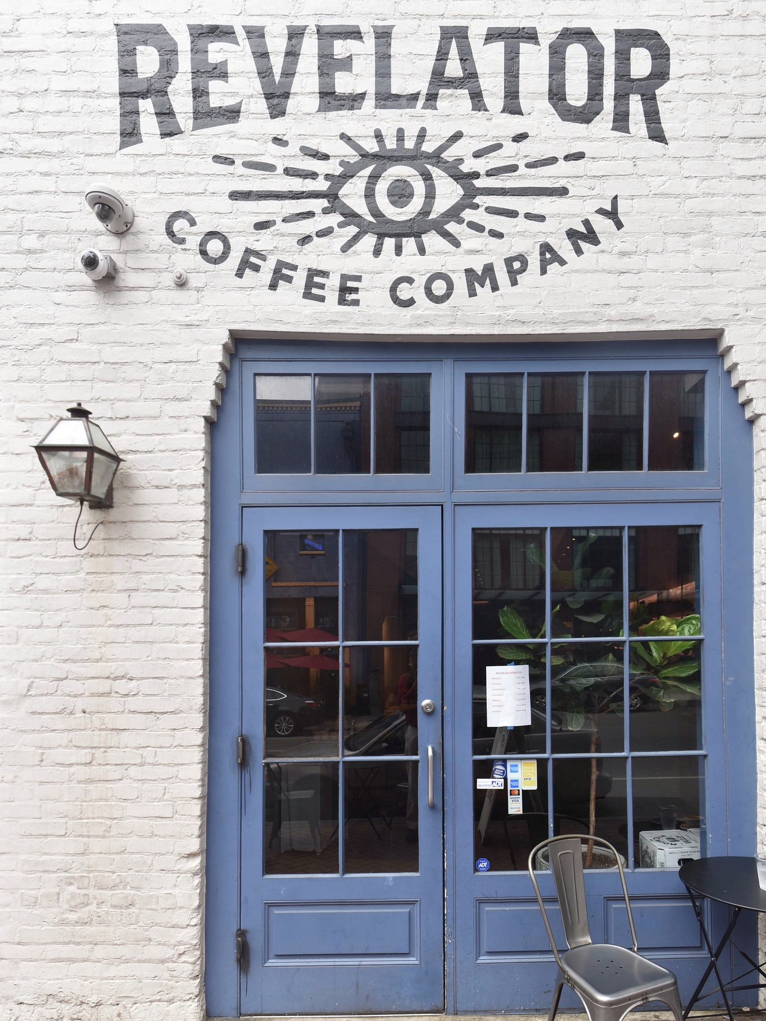 The front of Revelator Coffee on Tchoupitoulas Street
