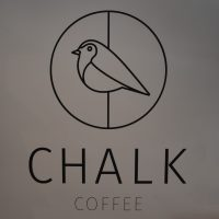The Chalk Coffee logo from the wall of the coffee shop in Chester.