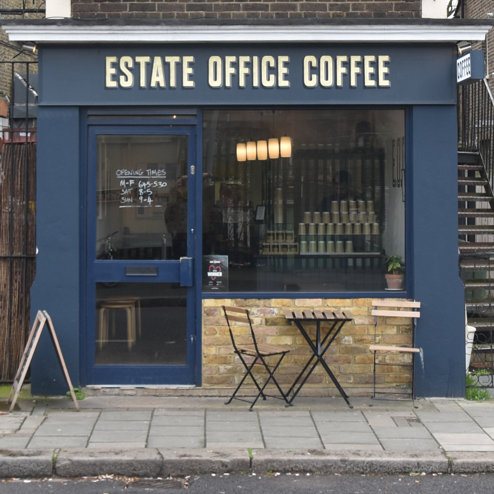 Estate Office Coffee in Streatham, as seen from directly across the road.