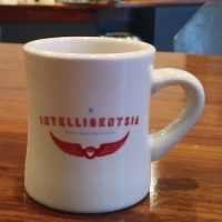 A classic, Intelligentsia diner mug from my visit to the Millennium Park coffee bar.