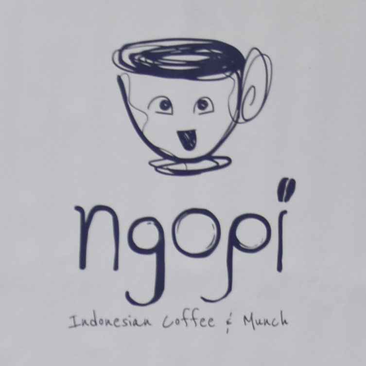 The Ngopi logo, taken from the stand at the 2019 Birmingham Coffee Festival.