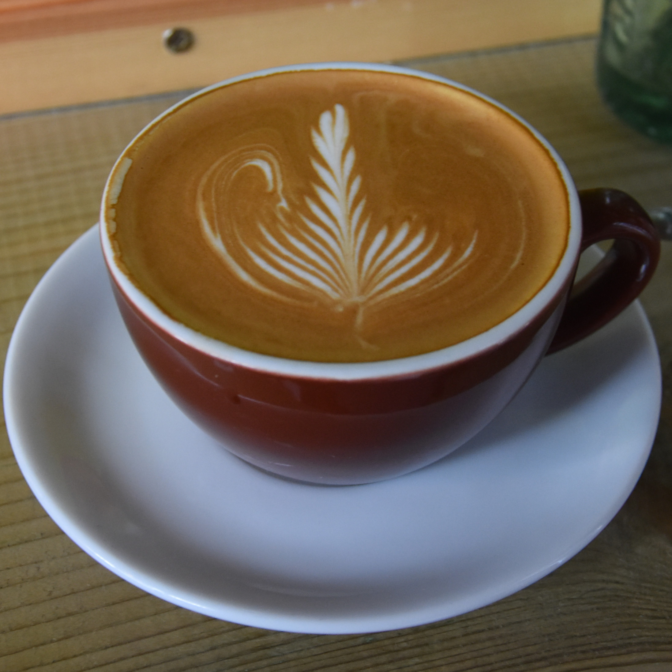 Some lovely latte art in my flat white at Espressino, the latest addition to the Doctor Espresso stable.