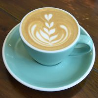 A lovely flat white, made with the Jailbreak blend from Has Bean, served in a classic cup at Bean & Cole in Chester.