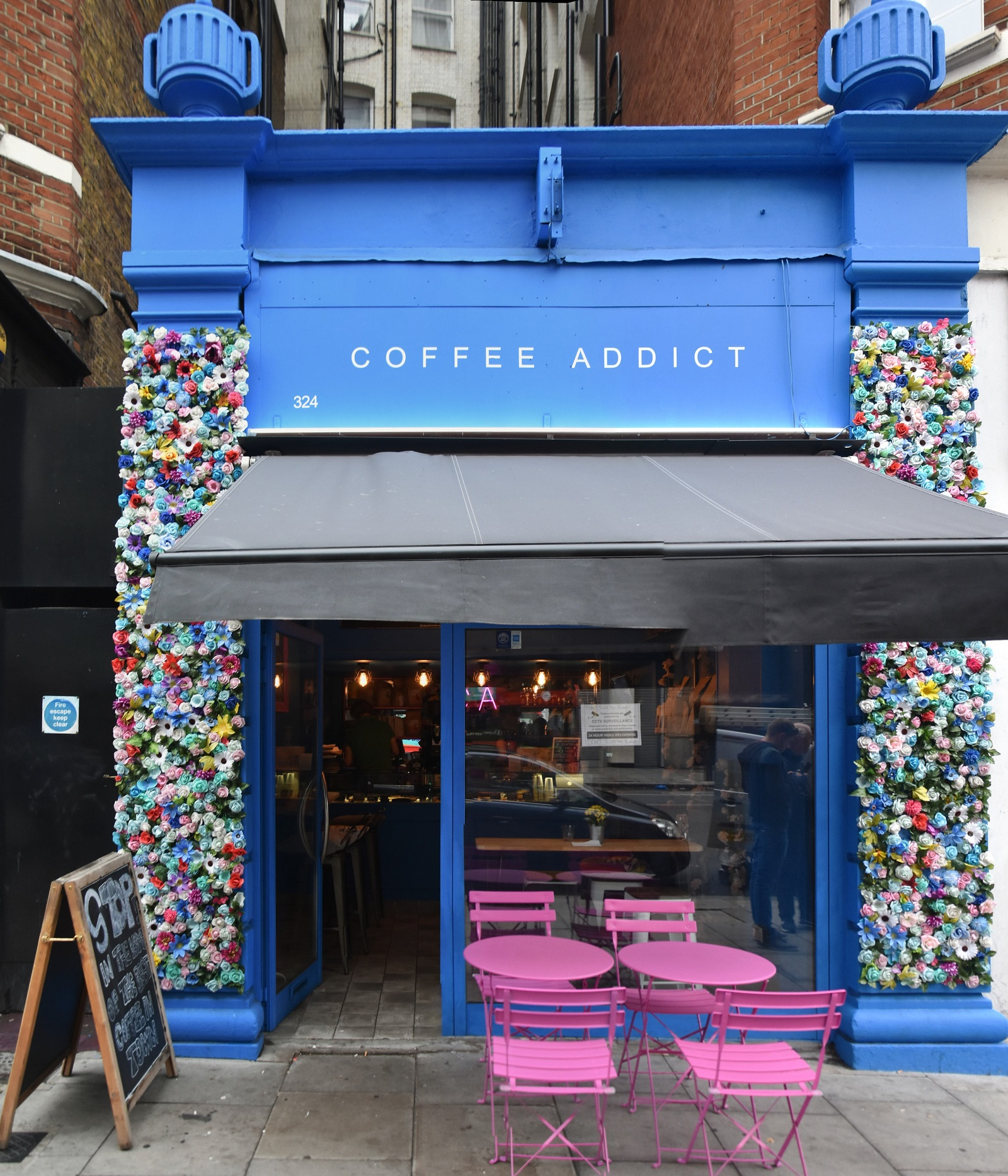 Coffee Addict on Vauxhall Bridge Road, occupying the site of the original Costa Coffee, which opened in 1978 (Coffee Addict, in contrast, opened in 2019)