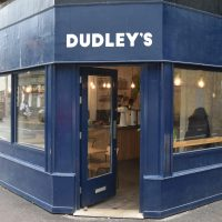 Dudley's in Walthamstow, with its door on the corner, open and welcoming you in.