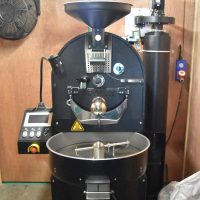 The roaster, a 5 kg Probat, at Wood St Coffee in Walthamstow.