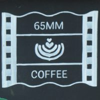 Details from the A-board outside 65mm Coffee in Tonbridge.