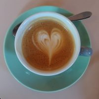 A latte art heart in my cortado, made with the Farmhand house-blend, at Brother Hubbard North in Dublin.