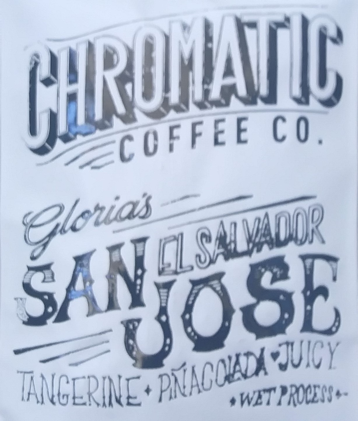 A bag of Chromatic Coffee's Gloria from San Jose, El Salvador, the very first farm that Chromatic worked with.