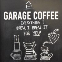 Details from the A-board in Garage Coffee, Whitstable: everything I brew, I brew it for you! With Aeropress, Chemex and V60.