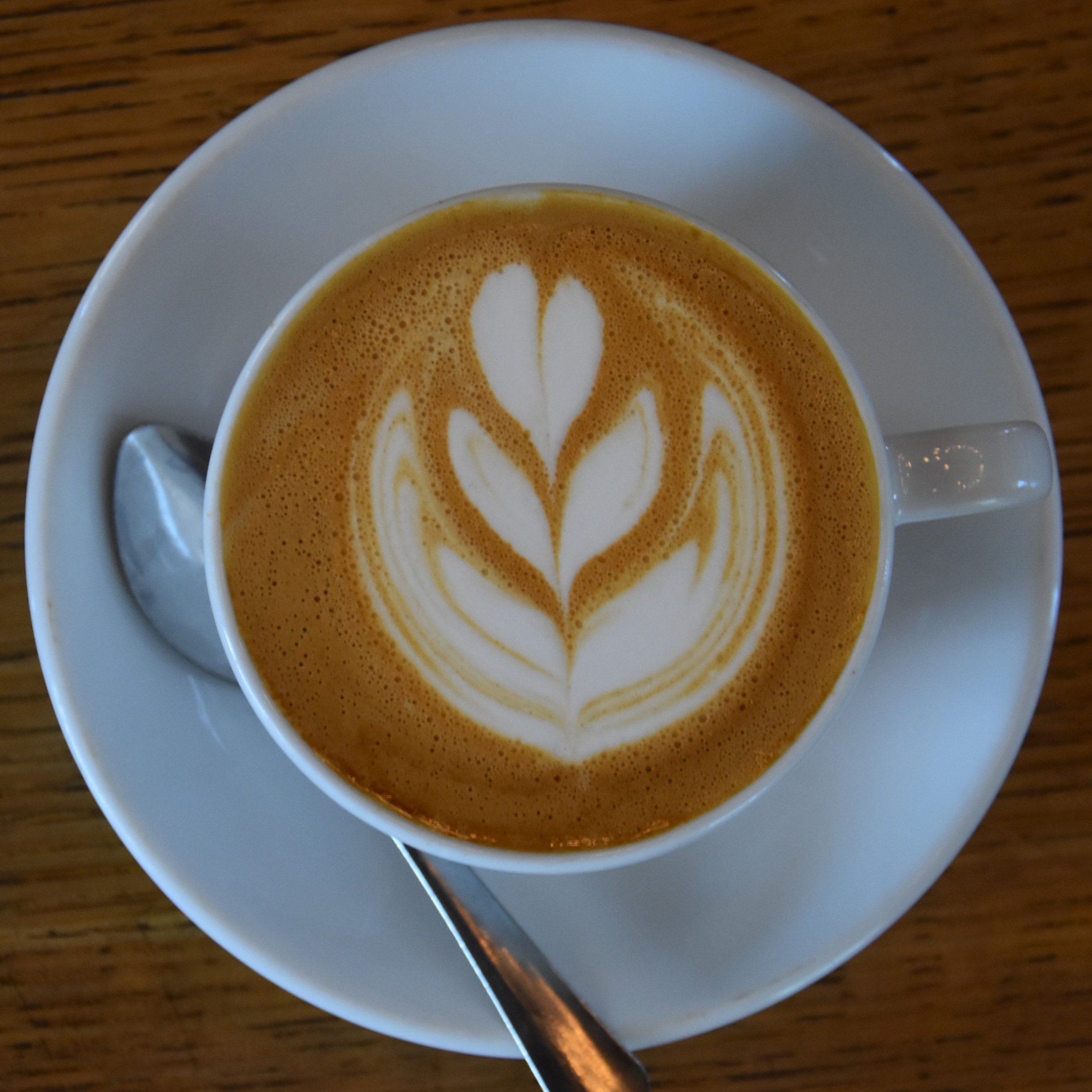 A lovely cappuccino, made with the Time and Temperature house blend which Amanda had at the Tandem Cafe and Roastery on my return in 2019.