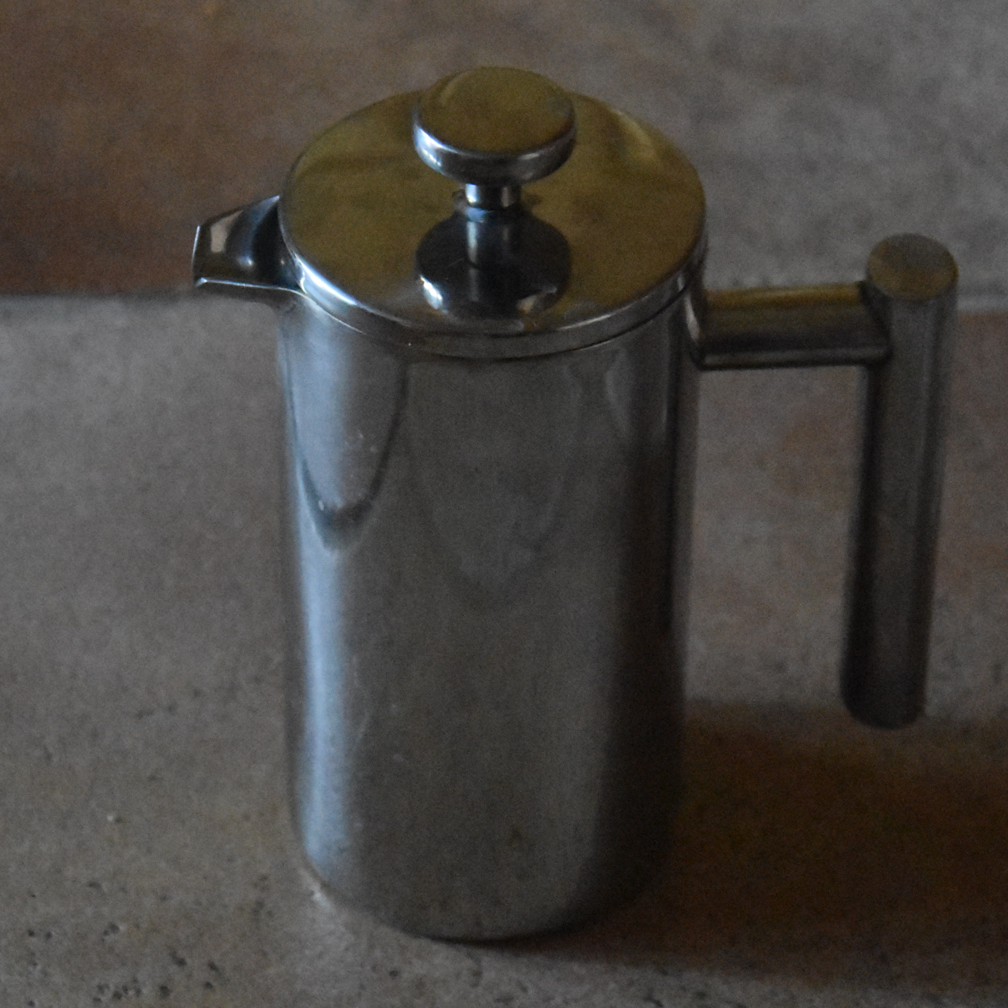 My shiny metal cafetiere (I got tired of breaking the glass ones!).