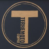 The Terremoto Coffee logo, taken from the A-board outside the coffee shop on W 15th Street in New York.