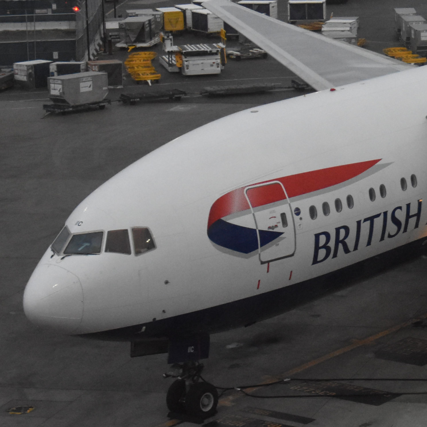 My British Airways Boeing 777, waiting on the stand at Terminal 5 in Boston, ready to take me back to London. I wonder when I'll fly again?