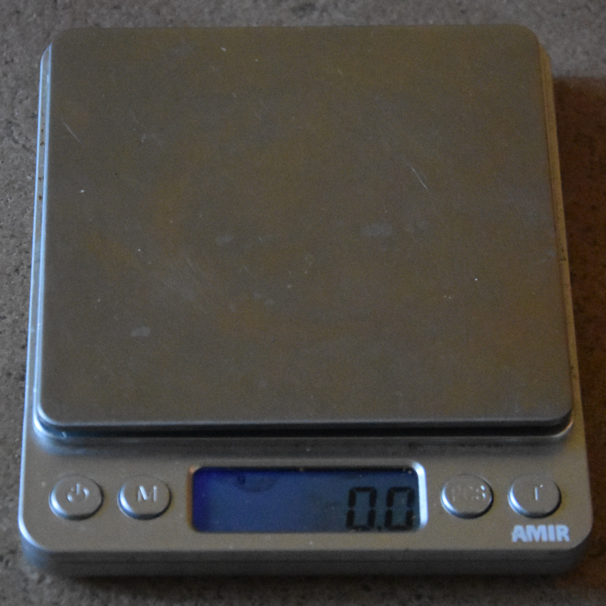 My travelling coffee scales.