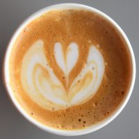The latte art in my decaf cappuccino, served at Intelligentsia, Wicker Park in Chicago.
