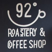 The 92 Degrees logo, taken from above the counter on the Hardman Road coffee shop.