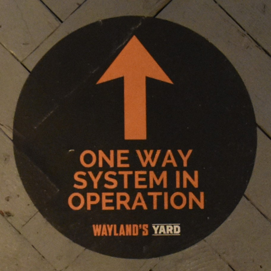 The new one-way system at Wayland's Yard to keep everyone safe during COVID-19.