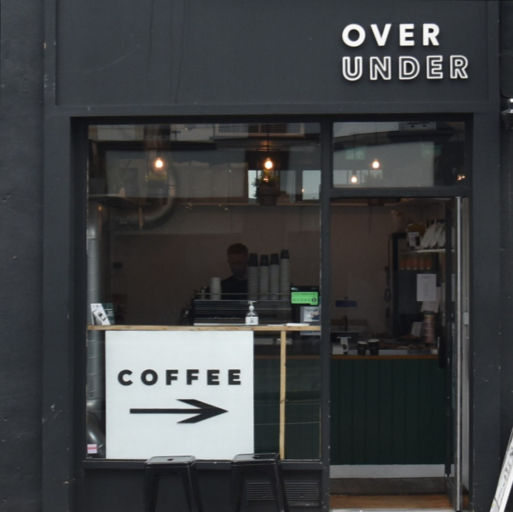 The front of Over Under Coffee, West Brompton, which is pretty much the extent of the store!