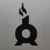 The Chimney Fire Coffee logo, a stylised roaster in black outline with smoke coming from its chimney.