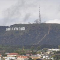 The famous Hollywood sign on the hills behind Los Angeles, from my first visit to the city in 2017.