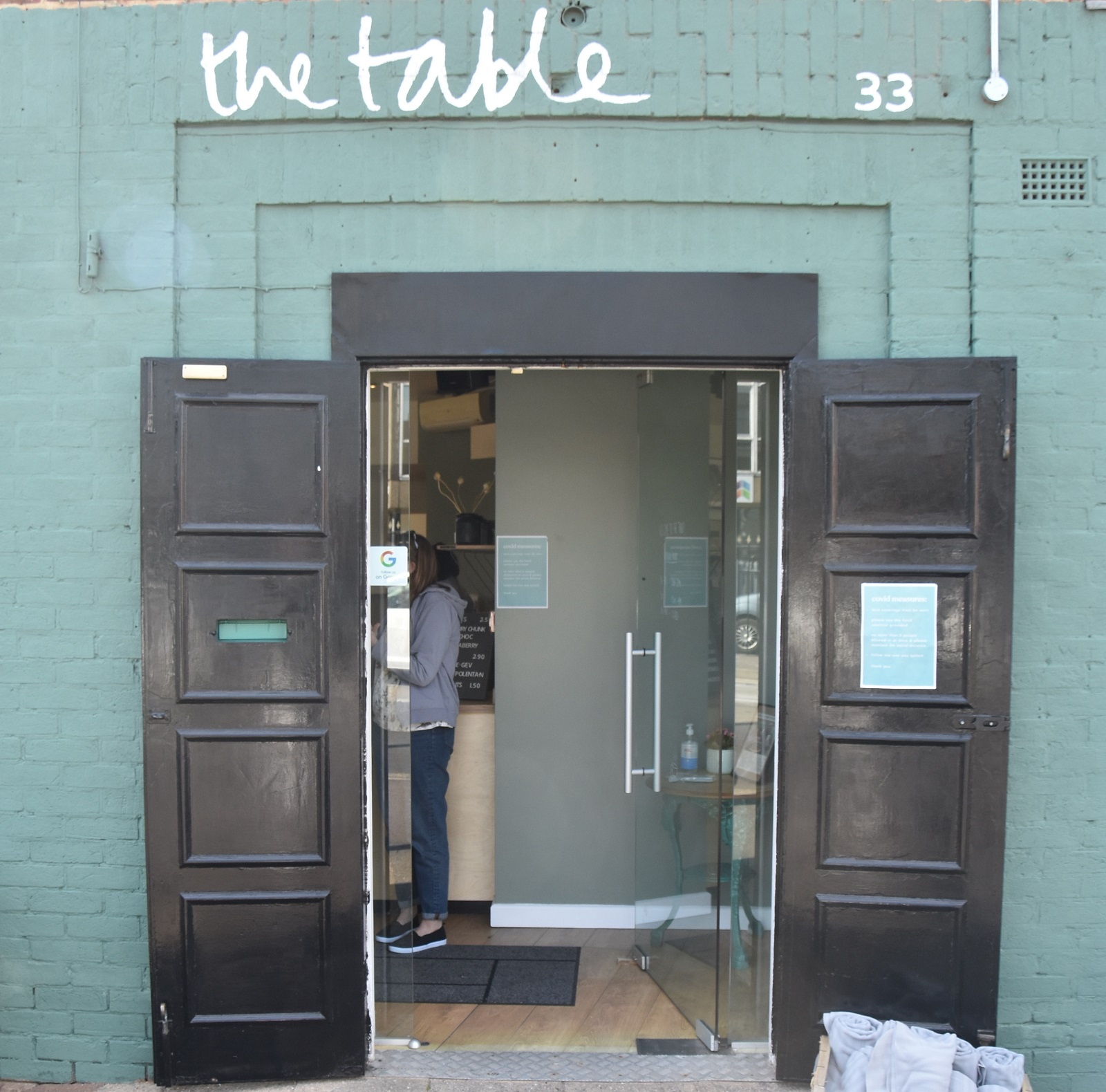 The open double doors welcome you to The Table in Walsall.