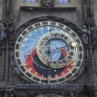 The upper part of the Prague Astronomical Clock.