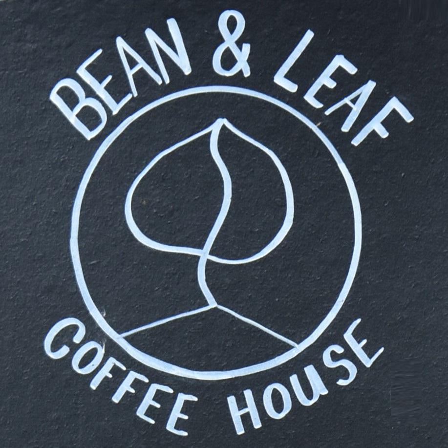 The Bean & Leaf Coffee House logo from the A-board in Hertford Street.