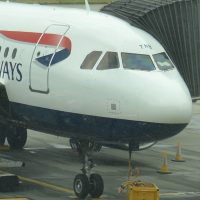 My British Airways A320 on the stand at Heathrow T5 having brought me back from Iceland.