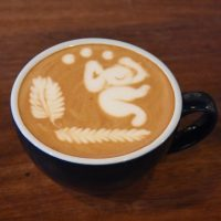 A flat white with some gorgeous latte art, poured by Ernie at The Gentlemen Baristas, Borough.