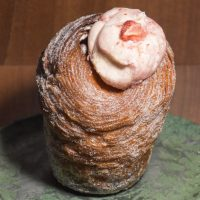 A strawberries and cream cruffin from Medicine Codsall, which Amanda and I shared later that day.