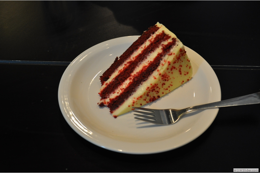 Did I mention it does cake? This is the excellent red velvet cake.