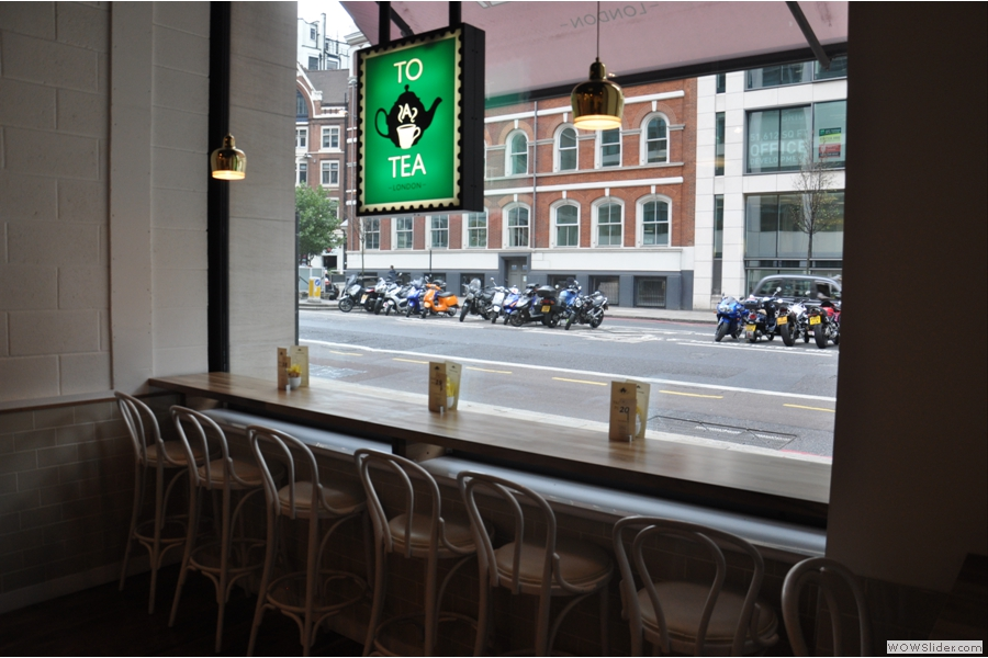 And finally, you can perch at the bar by the window and watch the word go by...
