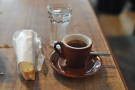 And finally, my espresso and almond biscotti. Heaven!