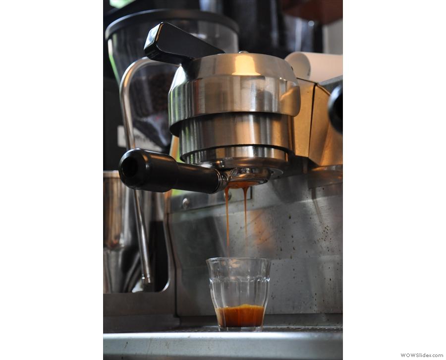 I love watching coffee extract.