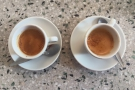 The old-fashioned espresso is made with the same beans, but pulled very differently.