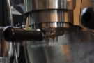 ... then another, form out of the bottomless portafilter.