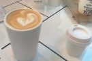 I naturally had coffee: a flat white, while to the right, is Jamie from Bean There At's piccolo.
